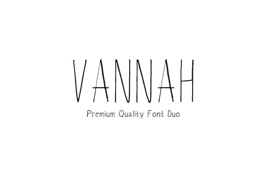 Vannah Handmade Font Duo