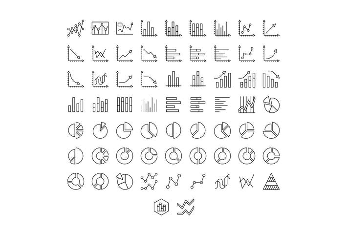 Thumbnail for 65 Charts Line Icons