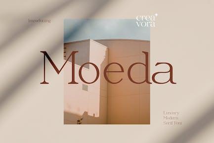 Moeda - Lujo Con serifa Font