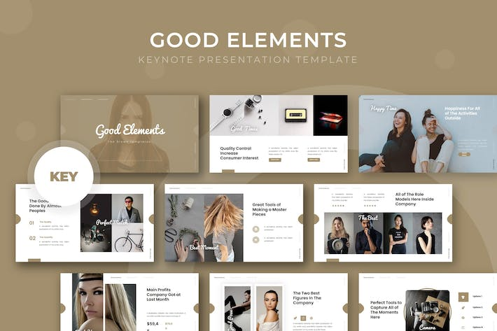 Thumbnail for Good Elements - Keynote Template