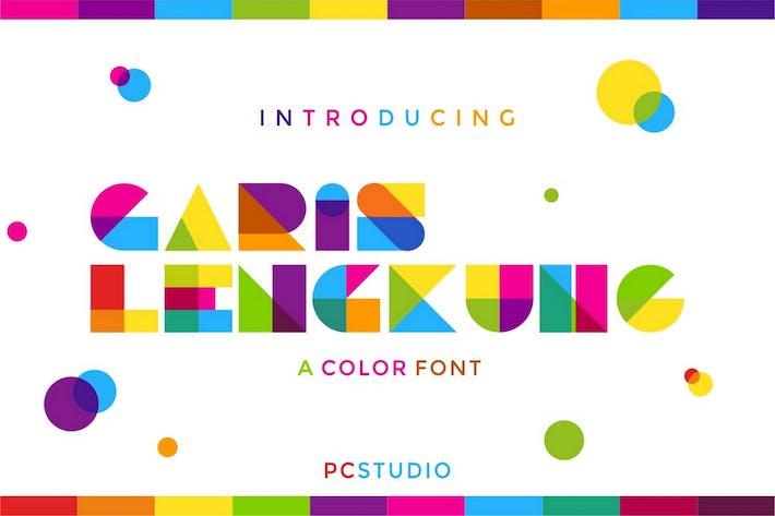 Thumbnail for Garis Lengkung - Fuente colorida