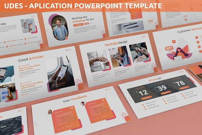Udes - Application Powerpoint Template