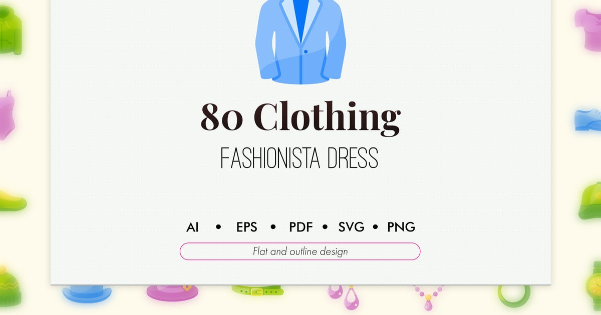 Download 80 Clothing and apparel elements icon pack by Chanut_industries