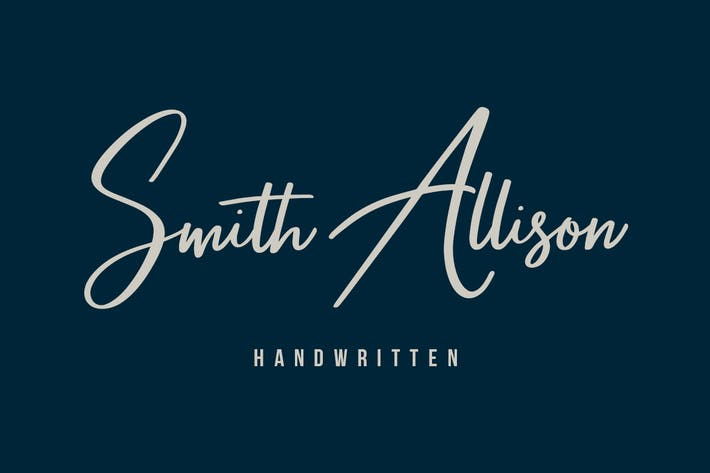 Thumbnail for Smith Allison Signature Font
