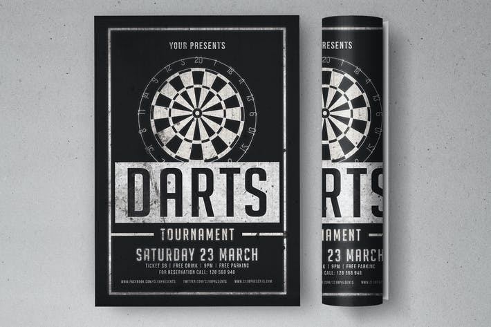 Cover Image For Darts Tournament Flyer
