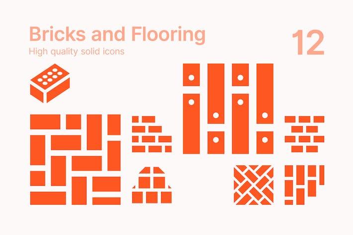 Bricks and Flooring Icons