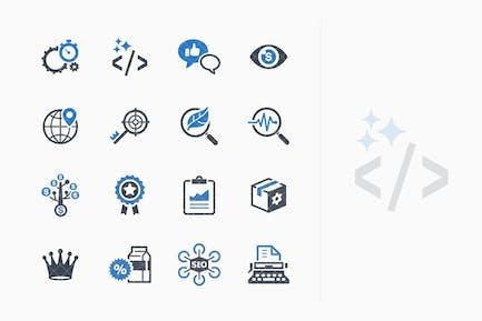 SEO & Internet Marketing Íconos Kit 4 - Blue Series