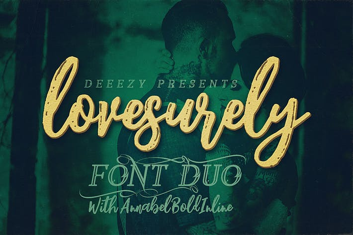 Thumbnail for Lovesurely Font Duo