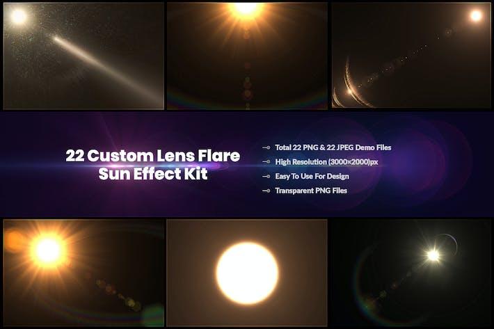 Thumbnail for Sun Effect Kit 22 Benutzerdefinierte Objektivblende