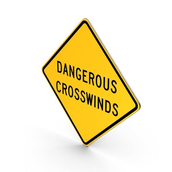 Thumbnail for Dangerous Crosswinds Sign