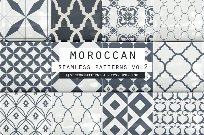 Thumbnail for Moroccan Style seamless vector patterns vol2