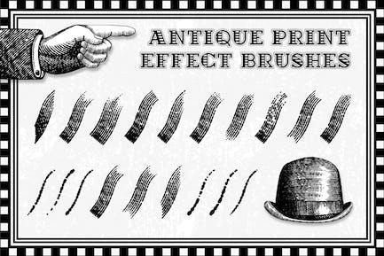 Antique Print Effect Brushes