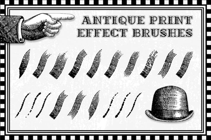 Thumbnail for Antique Print Effect Brushes