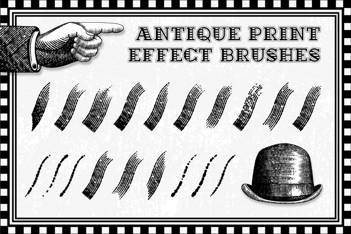 Cover Image For Antique Print Effect Brushes