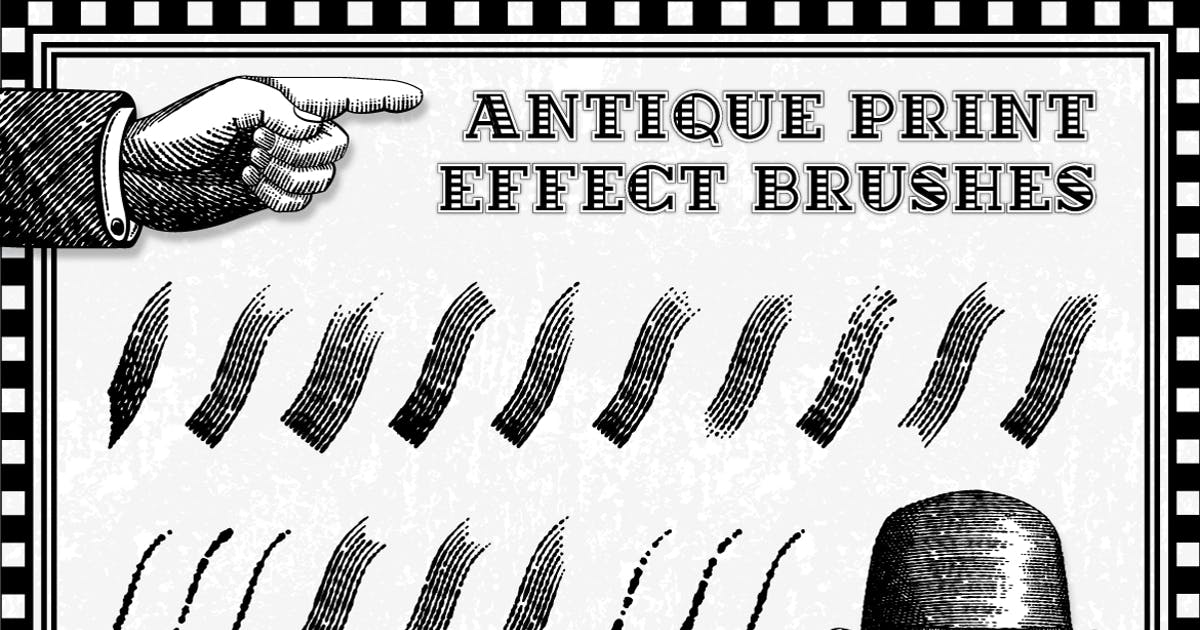 Download Antique Print Effect Brushes by JRChild