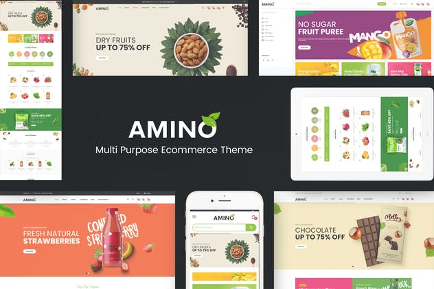 Amino - Organic & Multipurpose OpenCart Theme