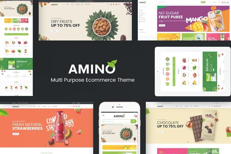 Amino - Органическая и многоцелевая тема OpenCart