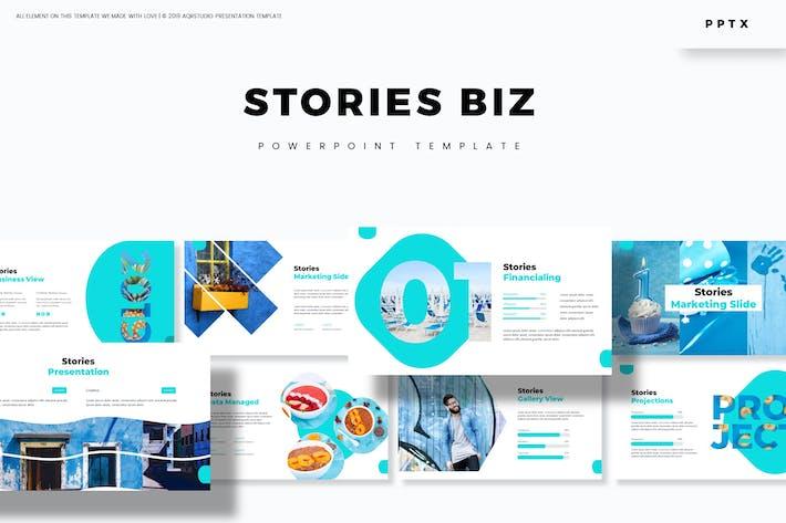 Thumbnail for Истории Biz - Шаблон Powerpoint