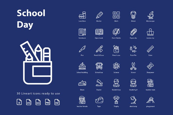 Cover Image For School Day (Line)