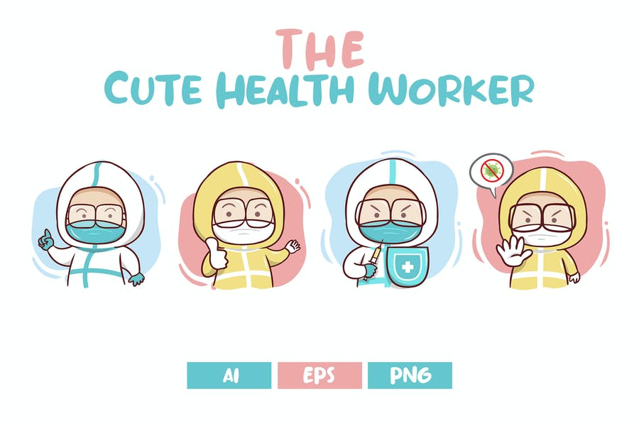 The Cute Health Workers Character's