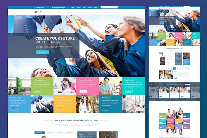 Thumbnail for University Education PSD Template
