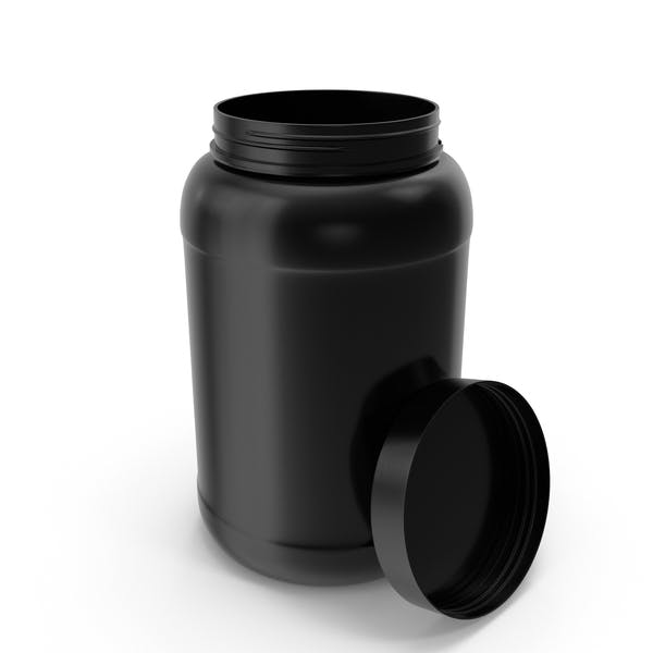 Thumbnail for Plastic Bottles Wide Mouth Gallon Black Open