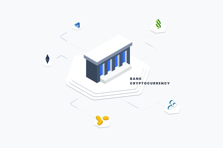 Thumbnail for Bank Coin Isometric Illustration