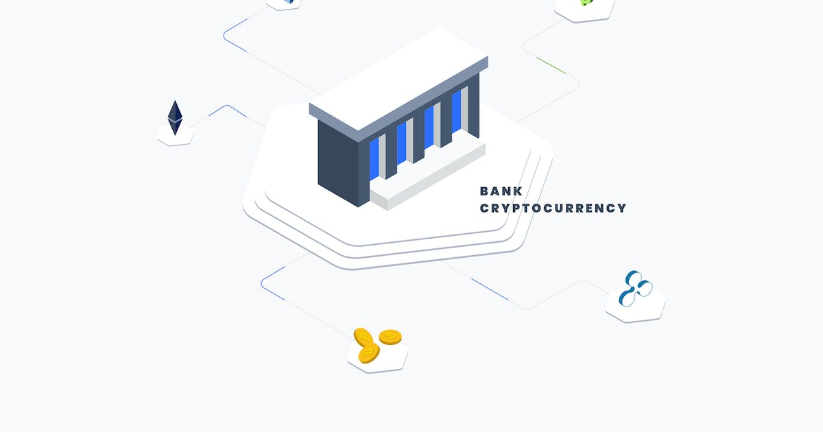 Download Bank Coin Isometric Illustration by angelbi88
