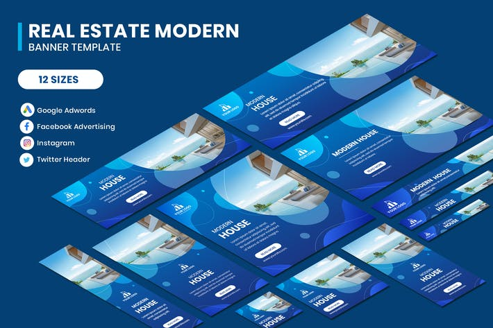 Thumbnail for Real Estate Modern Google Adwords Template