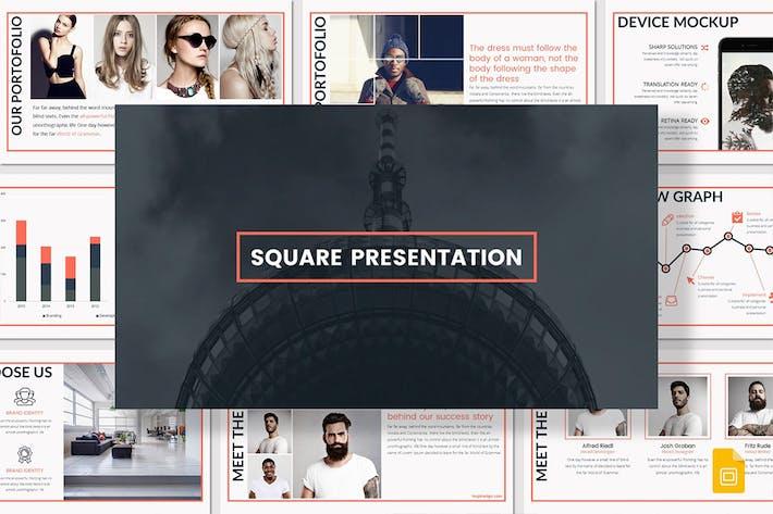 Thumbnail for SQUARE - Google Slides Template