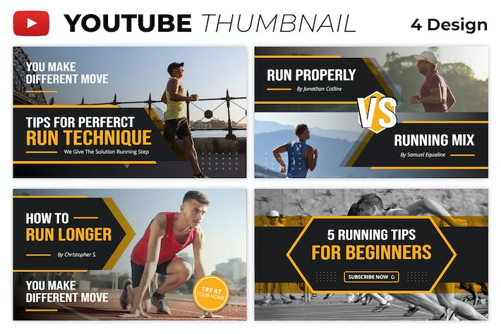 Running Youtube Thumbnail Template