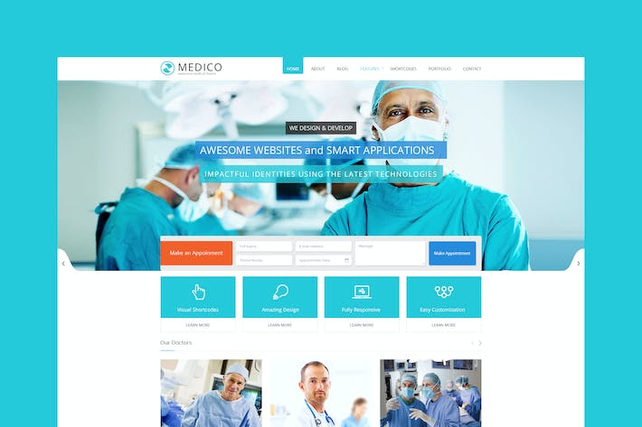 Thumbnail for Medico -Medical & Health HTML5 Template