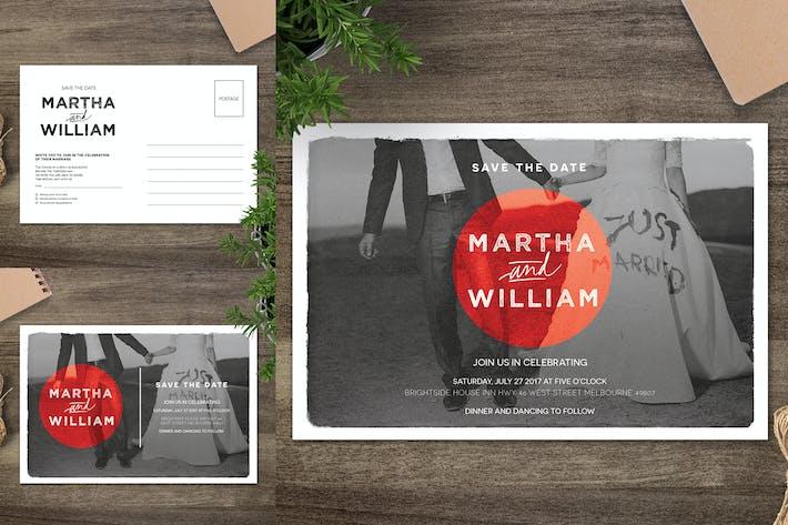 Thumbnail for Wedding Postcard Invitation