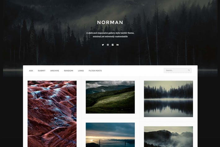 Thumbnail for Norman - Responsive Grid Theme