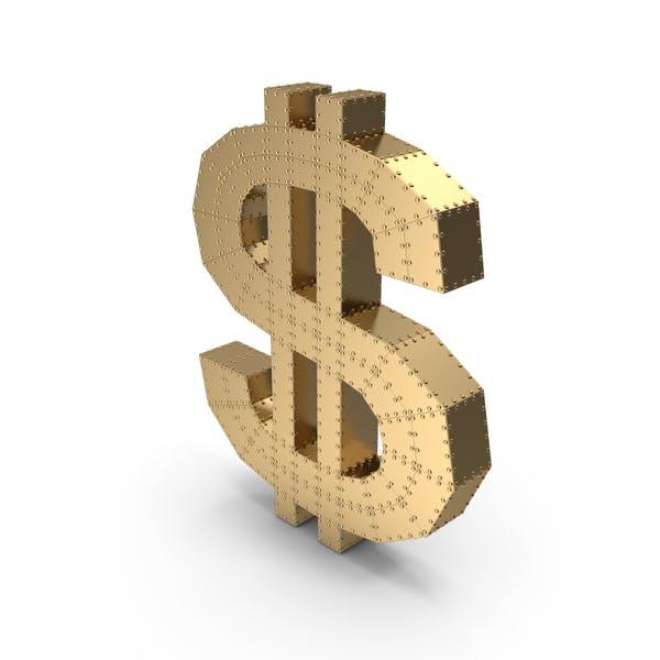 Dollar Gold mit Nieten