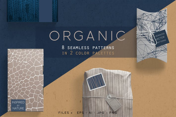 Thumbnail for Organic Patterns - 2 color palettes