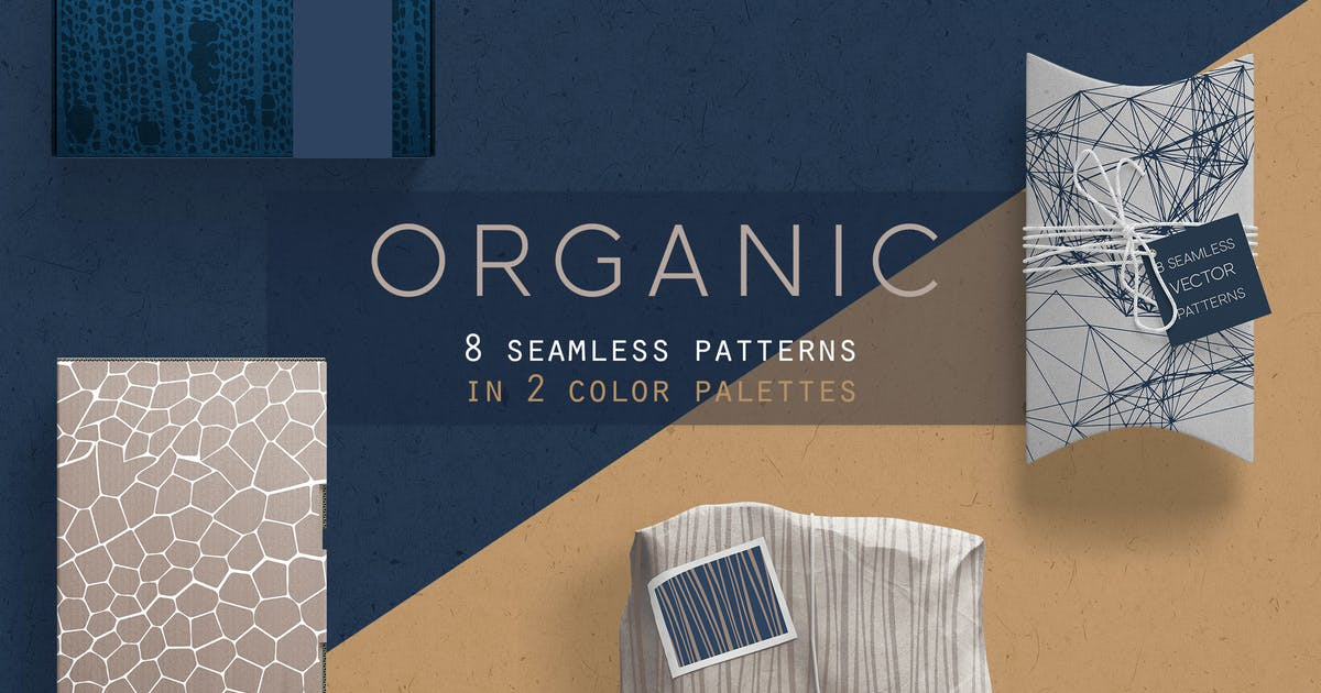 Download Organic Patterns - 2 color palettes by Youandigraphics