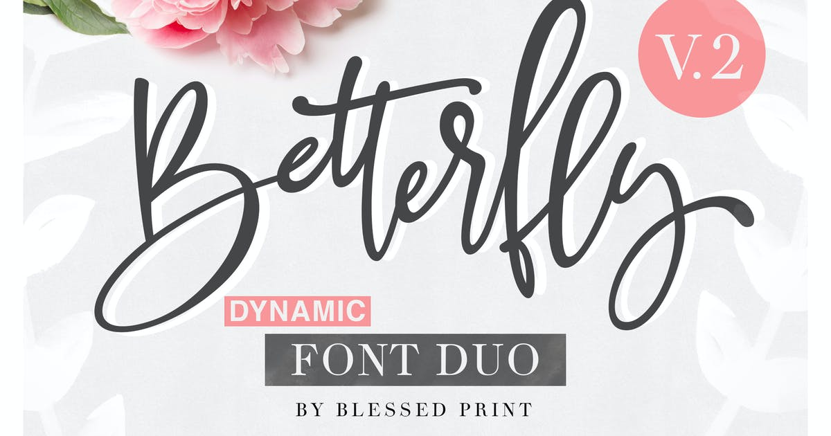 Download BetterFly 2 - Dynamic Font Duo by BlessedPrint