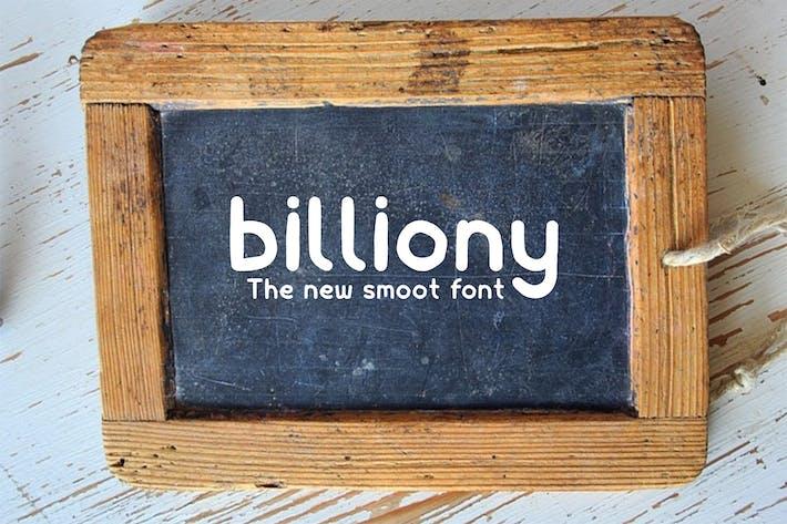 Thumbnail for Billiony Typeface Font