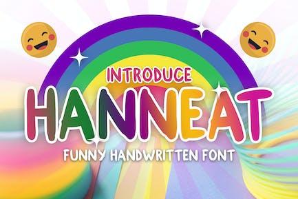 Hanneat - Gracioso escrito a mano