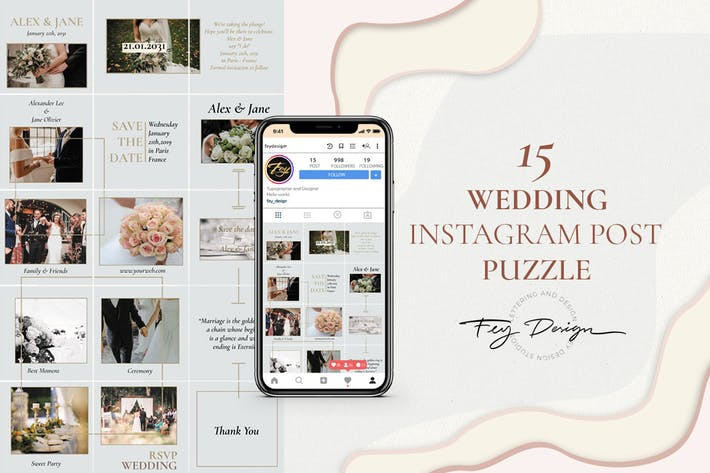 Thumbnail for Wedding Instagram Post Puzzle