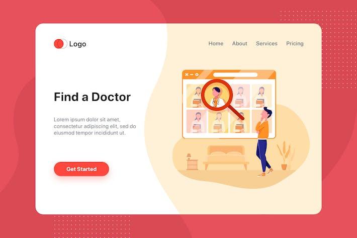 Thumbnail for Find Doctor Service Online Illustration