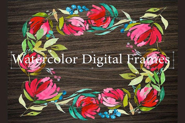 Thumbnail for 3 Watercolor Digital Frames