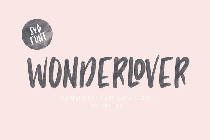 Thumbnail for Wonderlover   Handwritten Svg Font