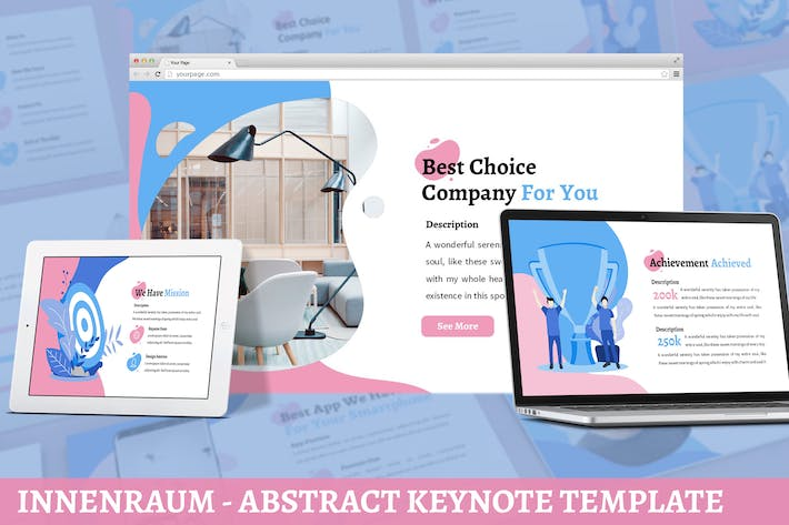 Thumbnail for Innenraum - Abstract Google Slides Template