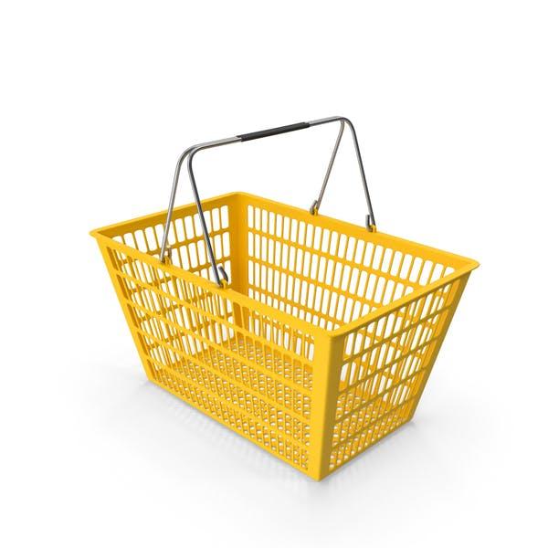 Yellow Shopping Basket