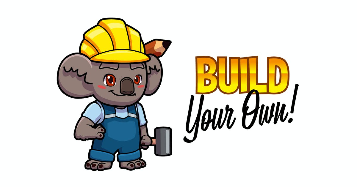 Download Cartoon Cute Builder Koala Mascot Logo by Suhandi