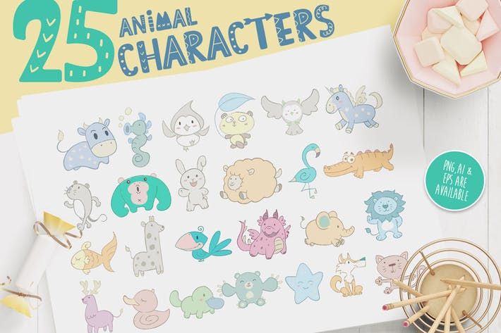 Thumbnail for Персонаж Животное Декоративные для детей
