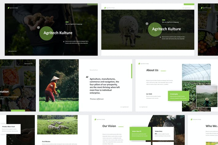 Thumbnail for Agritech - Agriculture Powerpoint Template