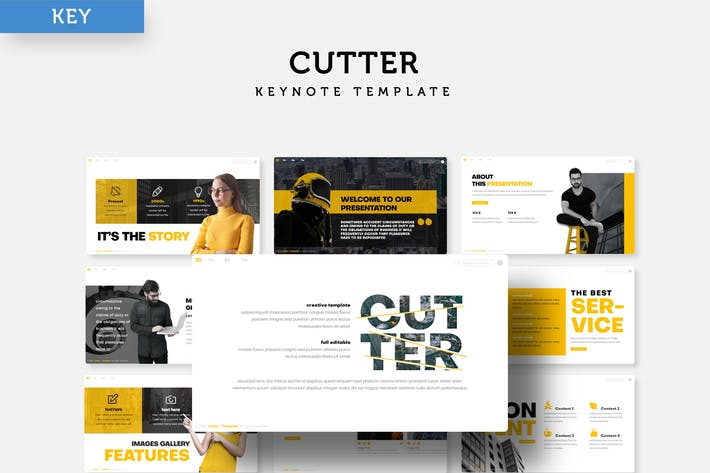 Thumbnail for Cutter -  Keynote Template